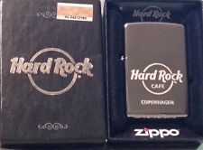 Hard Rock Cafe COPENHAGEN New Silver Chrome Finish ZIPPO Lighter New Box Sticker