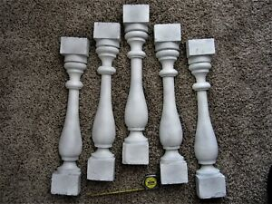 5 REAL DEAL Shabby Porch Plinth Columns Chic Victorian Wood Fence Rail Balusters