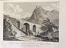 Paestum Salerno VIETRI Saint-Non acquaforte 1786 incisione originale ottima