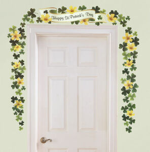"""""""Happy St. Patrick's Day"""" Banner Shamrock Wall Decoration ( USE YEAR AFTER YEAR"""