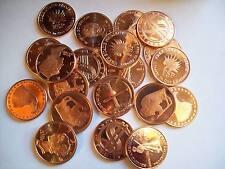 20-1 OZ COPPER COINS *SCRATCHED ASSORTMENT .999 COPPER ROUNDS BULLION 1-5-10-100