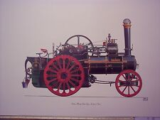 Steam Traction engine Ruston and Hornsby Oliver print by Geoffery Wheeler