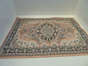 Dolls House Lounge Flooring Miniature 1:12th Scale Pink Patterned Turkish Rug