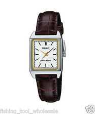 LTP-V007L-7E2 White Casio Ladies Women Watches Leather Band Brand-New