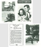 THE NAKED CITY - GOLI GRAD Original MINT EXYU Movie Program 1948 JULES DASSIN