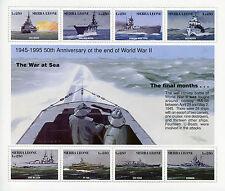 Sierra Leone 1995 MNH WWII WW2 VE Day World War II 8v M/S Ships Bismark Stamps