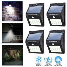 4 x 20 DEL Énergie Solaire Lumière Détecteur de mouvement Jardin Extérieur Mur De Sécurité Lampe