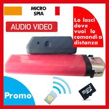 MICROSPIA CIMICE GSM SPIA AUDIO VIDEO  REGISTRA SU MICRO-SD GSM SIM A DISTANZA