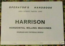Harrison Horizontal Milling Machine Manual