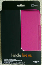 "Genuine Original Amazon Kindle Fire HD 7"" Leather Cover Case - Pink Fuchsia"