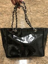Rare Chanel CC Patent Leather Tote Bag