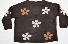 Pullover Samoon Braun mit Blumen Art. 771282-25098 Gr.50 UVP 79,99 €