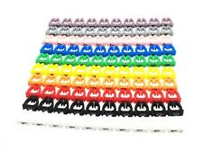 100pcs Colourful Cable Markers  C-Type Marker Number Tag Label 4mm CAT6