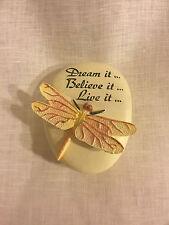 Dragonfly 'Dream,Believe,Live' Trinket Box