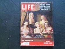 1955 NOVEMBER 21 LIFE MAGAZINE - JAYNE MANSFIELD & YOUNG BROADWAY STARS - L 982