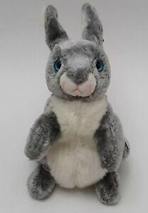 "TY Beanie Babies HOPPER the Bunny Rabbit Plush 7"" Stuffed Animal 2000 with Tag."