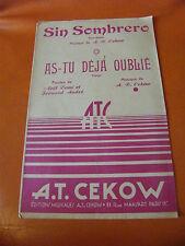 Partition Sin Sombrero Cekow As tu déjà oublié Cekow
