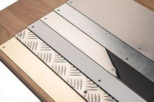 Metal Door Kick Plates Stainless Steel - Aluminium - Polished Brass - Chequer