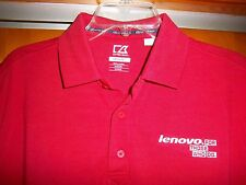 New CUTTER & BUCK Golf DryTec Red Polo Shirt Men's Size Medium ~ Lenova ~ NWOT