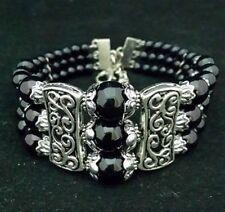 New Tibet silver multicolor jade turquoise bead bracelet  P1
