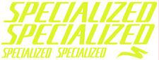 5 pegatinas de vinilo Amarillo fluorescente SPECIALIZED  para bicicleta,  no 382