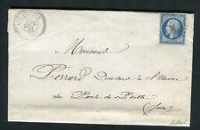 Rare lettre des Fraites ( Doubs 1857 ) avec un n° 14A - Cachet PC 3038