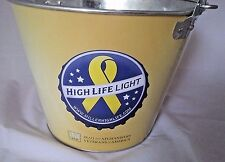 Dedicated to: Our IAVA Vets- A Miller High Life Light Beer Ice Bucket  5.75 Qts