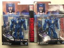 Transformers Titans Return Lot Of 2 Scourge Army Builder Headmaster New F