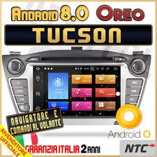 AUTORADIO Android 8.0 OctaCore 4gb 32GBgb HYUNDAI Tucson IX35 Navigatore GPS -