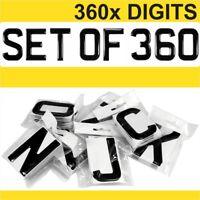 3d Gel Number Plates Black Domed Resin Making UK REG DIGITS Starter Set Kit x360