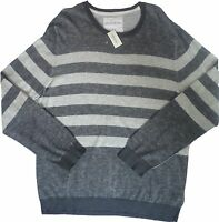 Mens AEROPOSTALE Striped Crew Neck Crewneck Sweater size XL NWT #8522