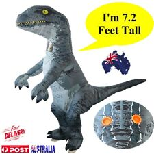 Adults Inflatable Dinosaur Costume Halloween Cosplay Blow up Outfit Velociraptor