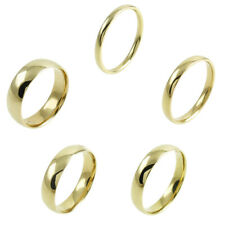 Guaranteed 10K Yellow Gold Plain Comfort Fit Wedding Band Ring Size 5-13
