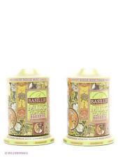 Green tea, coffee, pineapple, rose, vanilla - Basilur Romantic winding music tin
