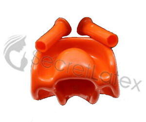 LATEX MOUTH SHEATH NOSE TUBES SET RED OR BLACK MASK HOOD RUBBER PIECES