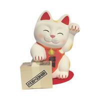 Hucha Gato Japonés Banquero 13cm Cerámica Fabricado en Japón Maneki Neko 40576