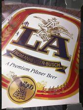 Anheusher Busch La Beer / Low Alcohol 1985 Original Poster Man Cave Mint