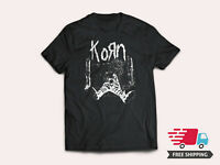 Korn Scarecrow New Men's Black T-Shirt Original logo 1994 Tee Size S - 5XL T1