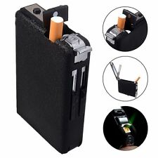 Cigarette Case & Lighter Automatic Ejection Butane Windproof Metal Box Holder XD
