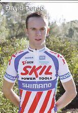 CYCLISME carte cycliste DAVID DEROO équipe SKIL SHIMANO