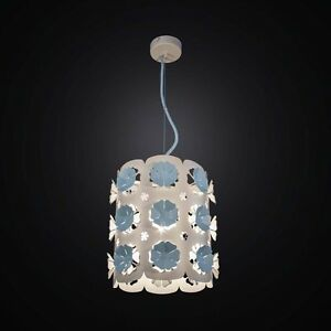 Chandelier Contemporary Cutting Laser Cut White And Blue A 1 Light Bga 2548/P20