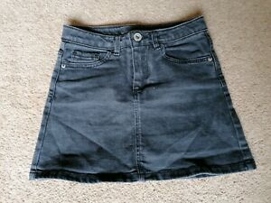 Zara Girls Black Denim Short Mini Skirt Size 7 Years