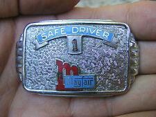 Vtg MAYFAIR MARKET Belt Buckle LOGO Employee AWARD Stalder STORE Silver RARE VG+