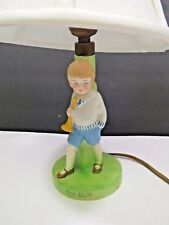Antique Porcelain Germany Boy Blue Lamp Mettlach?