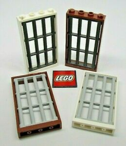 LEGO Window 4x6 with Bars in 1x4x6 Frame - Choose Colour - Design (92589)