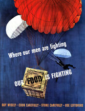 Where Our Men Are Fighting Food Is Fighting 1943 World War II Propaganda Poster