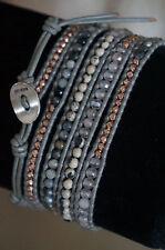 NEW Chan Luu Quartz Agate Semi Precious Stone Rosegold Vermeil 5 Wrap Bracelet