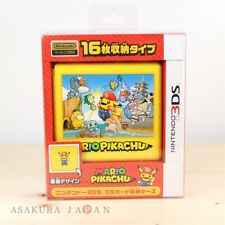 Pokemon Center Card Case 16 for Nintendo 3DS DS MARIO PIKACHU Game Cartridge