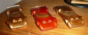 CHAMPION MECOM LOLA 1/24TH SLOT CAR BODIES LOT OF 3 FACTORY PAINTED