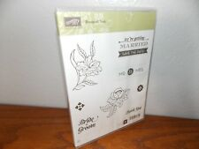 Stampin Up Tag Talk Wedding Birthday You Congrats 6 Cling Mount Stamps L0118